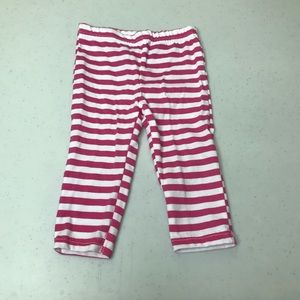 5/$25 BUSTER BROWN Striped Pants Pink/White 12 mo